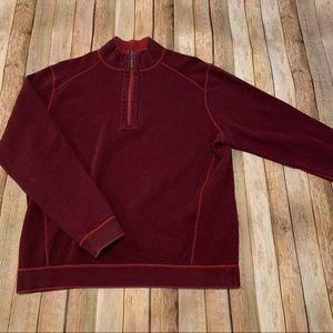 Tommy Bahama men's reversible 1/4 zip pullover